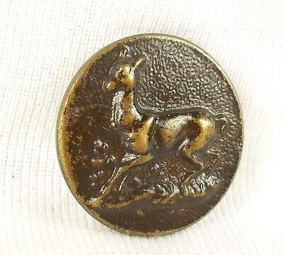 7 cm -Droite A coudre Venerie Insigne Cor de Chasse en métal doré