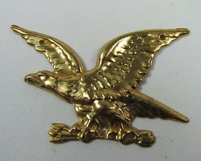 Old Pair Brass Figural Eagle Decorative Ornamental Hardware Adornments detailed 5