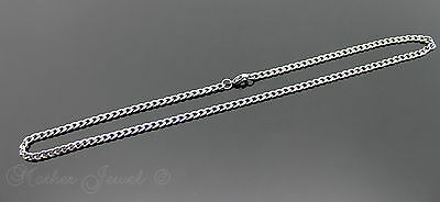 60Cm Silver 316L Stainless Steel 4.5Mm Curb Chain Mens Womens Unisex Necklace 4