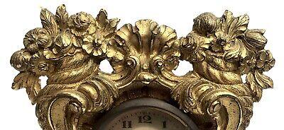 Lovely Antique German Ormolu Strut / Easel Mantel Clock 9