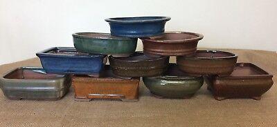 16cm Mixed Bonsai Pots X5 5