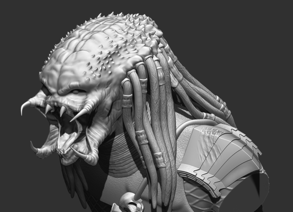 Predator Bust - File Stl 3D printing created ZBrush Compatible with every Slicer 6