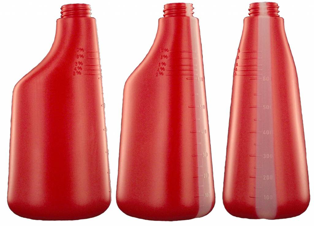 DW Sprühflasche 600 ml ROT Nachfüllflasche Leerflasche Druckflasche + Sprühkopf 3