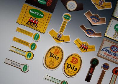 30 x verschiedene Etiketten WICKÜLER BIER + ANDERE um 1955-1968 4