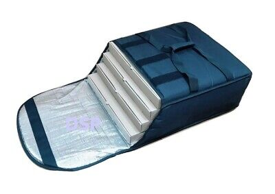 """5 QTY Professional Heavy Duty Pizza Delivery Bag Fully Foil Insulated 20""""x20""""x8"""" 5"""