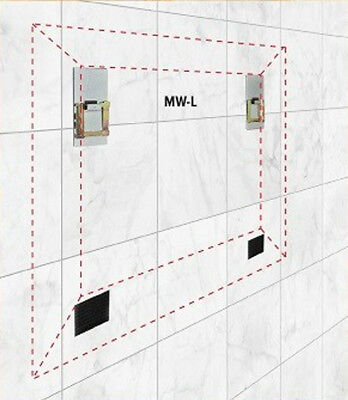 PANEL HANGING PLATE MW SELF ADHESIVE 100mm x 50mm PICTURE MIRROR HANGER TILES 6
