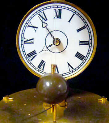 Mystery Briggs Rotary Glass Dome Flying Ball Clock 4