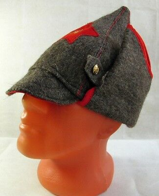 fbd37f2a6 RUSSIAN RED ARMY Hat Old Style Wool Budenovka USSR Metal Badge Great  Quality New