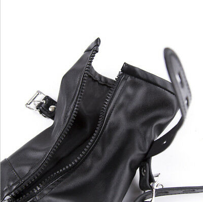 Bondage Shoe Foot Boot Fetisch Fesseln Spielzeug mit Reißverschluss Riemen Fancy 5