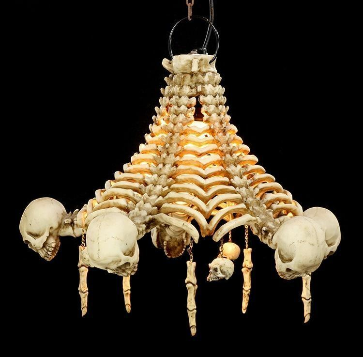 ... Totenkopf Deckenlampe   Skelett Lampe Gothic Fantasy Schädel Deko  Totenschädel