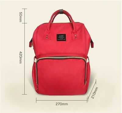Multifunctional GENUINE LAND Large Baby Diaper Backpack Mummy Nappy Changing Bag 5