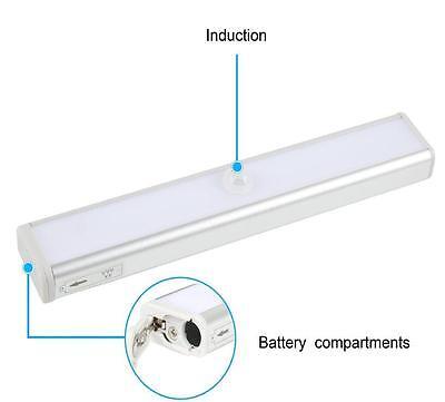 10 LED LIGHT Bar Battery Operated Wireless Motion Sensor Detector ...