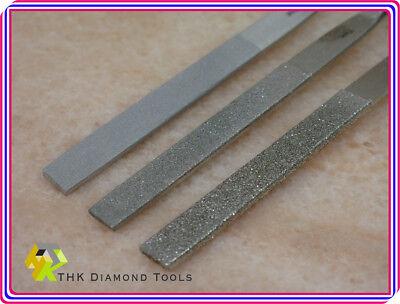 3 tlg 180mm THK Diamant Halbrund Feilen 3 Splitt Kachel feile stein Werkzeuge