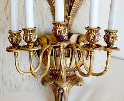 Antique Wall Candelabra Sconce Chandelier Gorgeous Details 3