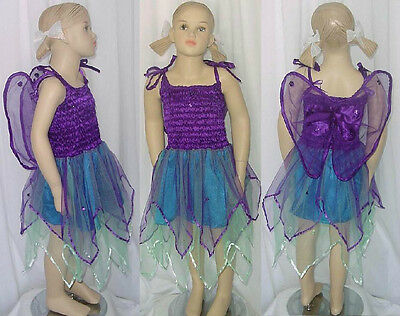 f3f970fb15d4 ... Star Fairy Dance Costume Dress w/ Attached Wings Christmas Child Large  New 2