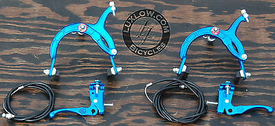 Blue Cruiser Bike Rear Brake Lever Cable Caliper OS BMX Vintage Schwinn Bicycle