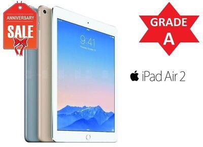 Apple iPad Air 2nd, WiFi + Unlocked - 16GB 32GB 64GB 128GB - Gray Silver Gold 3