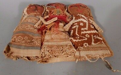 Peru Peruvian Central Coast Chancay Fabric Cotton Burial Dolls  #2 9