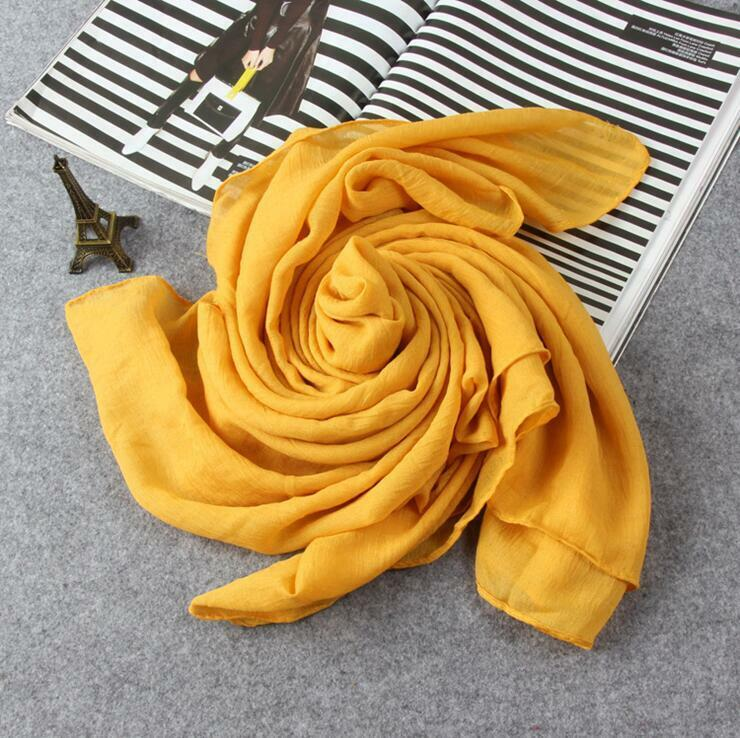 Hot Lady Women Long Candy Colors Soft Cotton Scarf Wrap Shawl Scarves Fashion 10