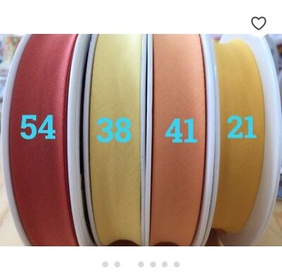 81 COLOURS %100PURE COTTON  Bias Binding Tape 2cm Width/ 20 mm 8