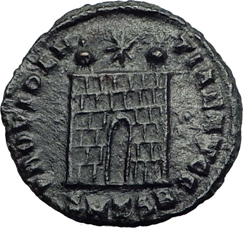 Constantine I the Great  326AD Ancient Roman Coin Military camp gate  i63579 2