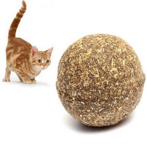 1-5xNaturel Menthe Boule Débourrage Poil Jouet Pr Chat Cat Animal Dia 3.4cm Neuf 5