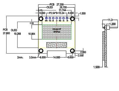 "5 PCS Blue 3-5V 0.96"" SPI Serial 128X64 OLED LCD LED Display Module for Arduino 3"