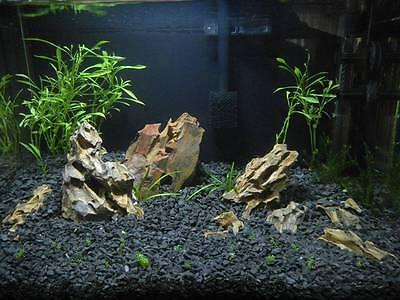 15 KG NATURAL BLACK AQUARIUM GRAVEL 2-5mm AQUASCAPING IWAGUMI IDEAL FOR PLANTS