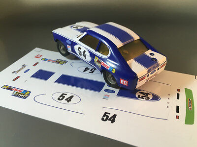 STICKERS POUR ALPINE RENAULT A310 #1 CALBERSON JOUEF NO DECAL IDEAL SLOT DCS011