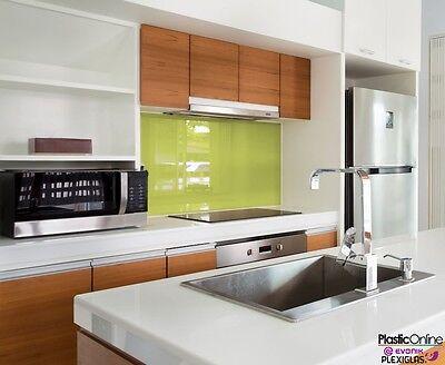 Pistachio Green Plastic Perspex Acrylic Kitchen Bathroom Splashback Like Glass