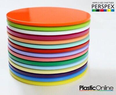 Perspex Discs Orange 363 5mm Thick Orange Plastic Circles Acrylic Disc