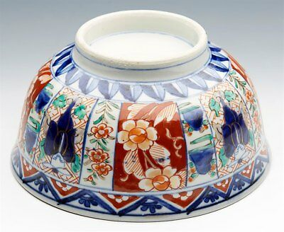 Superb Antique Japanese Meiji Imari Patterned Figural Porcelain Bowl 19Th C. 2