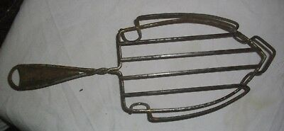 Antigua Reposa-Planchas De Metal Y Madera 32 X 12 Ctms 4