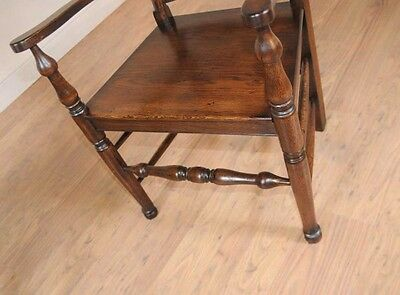 Set 8 Oak Ladderback Chairs Kitchen Dining Chair Farmhouse Furniture 9