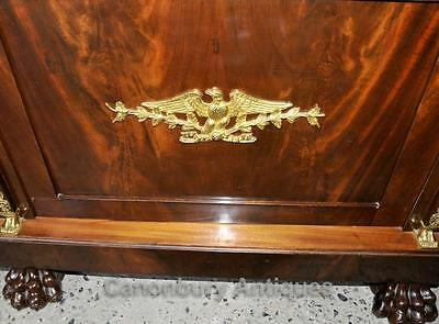 Antique French Empire Bookcase Cabinet Flame Mahogany 1880 6