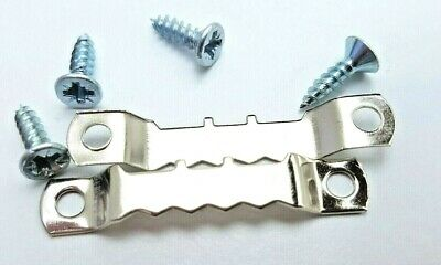Saw Tooth Picture Hanger With Screws 45mm Canvas Hanging Nickel Multi Listing 2