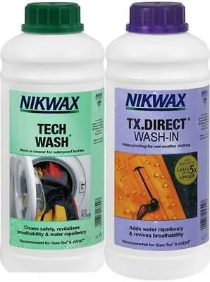 Nikwax TECH WASH & TX DIRECT 5 Litre Twin Pack Clothing Waterproofing Walking 2