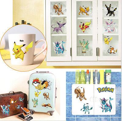 Pokemon Iconic Wall Decals Room Decorations Pikachu Pokeball