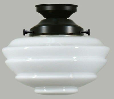 "New Artdeco Shade Lamp Glass Gallery Fitter 8 1/4"" Fitting Victorian Light Part 2"