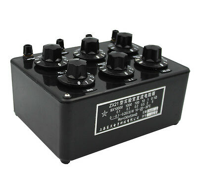 ZX21 Precision Variable Decade Resistor DC Resistance Box 0.1R to 99.9999kR 4