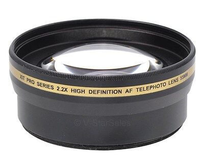 55mm XIT Pro 2.2x High Definition Telephoto Lens for Sony A290 A380 A390 A800 2