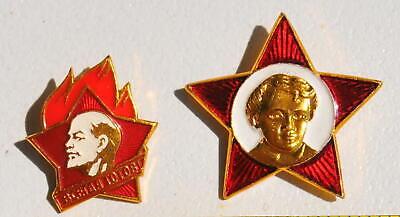 4pcs. RUSSIAN SOVIET USSR PIONEER VLKSM PIN MEDAL ORDER RED STAR AWARD BADGE WAR 6