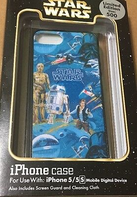 DISNEY PARKS STAR Wars R2D2 3 CPO iPhone 5/5s Cellphone Case Limited Edition