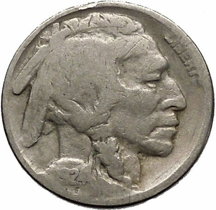 1924 BUFFALO NICKEL 5 Cents of United States of America USA Antique Coin i43665 2