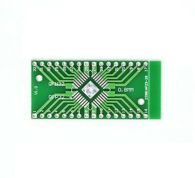 10PCS QFN32 QFP32 to DIP32 Two Sided Adapter PCB Converter Plates