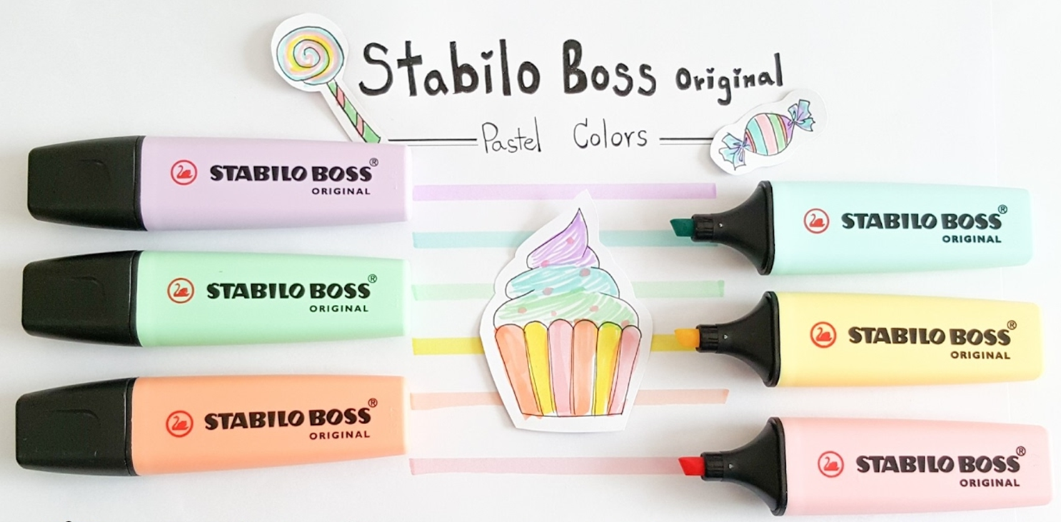 NEW IN PACK 6x PASTEL Stabilo Boss Highlighters Assorted Colours Chisel Tip Aus 2
