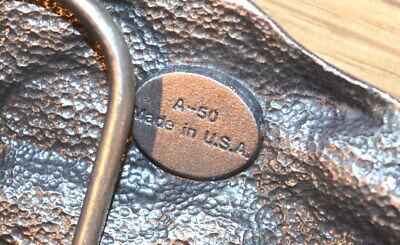 "Vintage 1987 SISKIYOU ""I'd Rather Be Hunting"" Pewter Belt Buckle - Made in USA 6"
