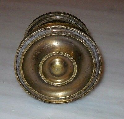 Vintage Greece Solid Brass Large Door Knob Handle Push/Pull #14 2