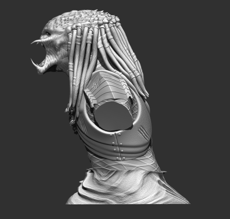 Predator Bust - File Stl 3D printing created ZBrush Compatible with every Slicer 3