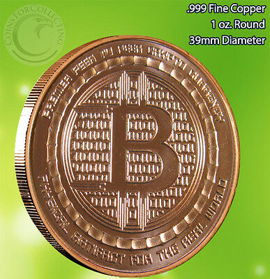 "Bitcoin ""We Do Not Forget"" Copper Round 1 oz .999 Very Limited and Rare 2"
